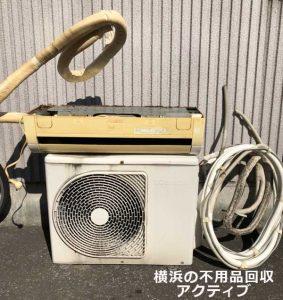 川崎市幸区にて回収したエアコン
