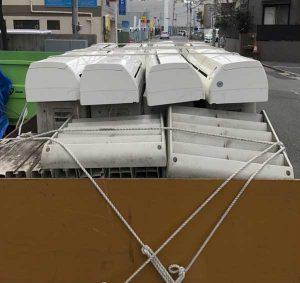 千葉市で回収した大量のエアコン