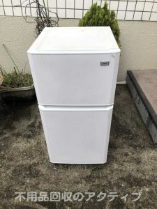 横浜市保土ヶ谷区にて回収させていただいた冷蔵庫