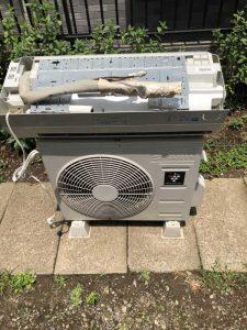 川崎市高津区で無料回収したエアコン