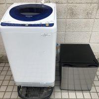 調布市で不用品回収した洗濯機と冷蔵庫