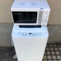 調布市で回収したレンジと洗濯機